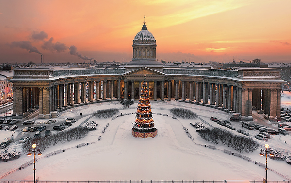 View to Kazan Cathedral by Ivan Smelov - São Petersburgo, Capital Cultural da Rússia