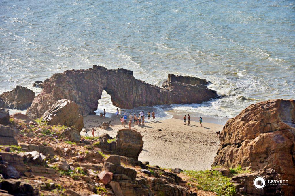 Pedra Furada em Jericoacoara- CE. Um dos principais cartões postais da pequena Vila