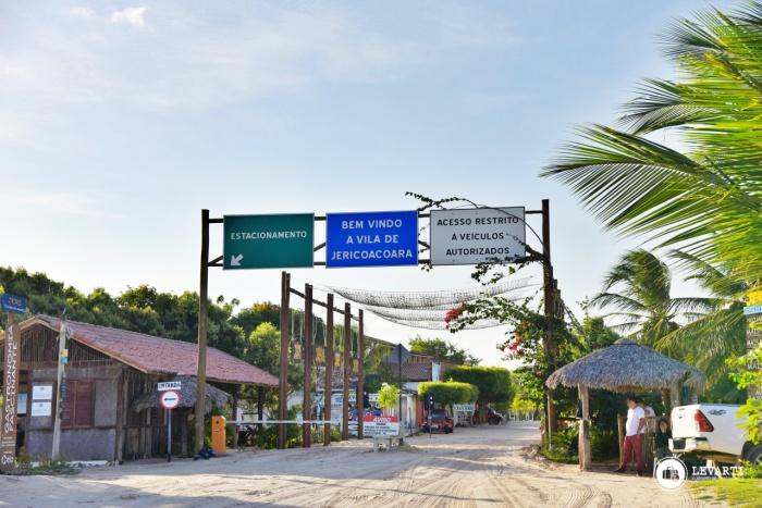 Placa de identificação da Vila de Jericoacoara - como chegar em Jericoacoara - Transfer para Jericoaooara