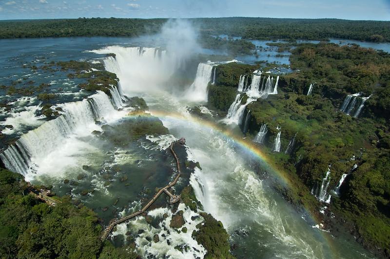 Vista aérea do Parque das Cataratas do Iguaçu