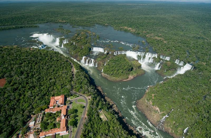 Vista aérea do Parque Nacional das Cataratas do Iguaçu