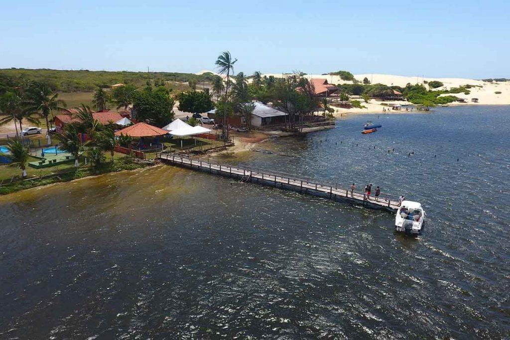 Lagoa do Portinho vista do alto 1024x683 - O que fazer no Piauí: Delta do Parnaíba e Melhores praias