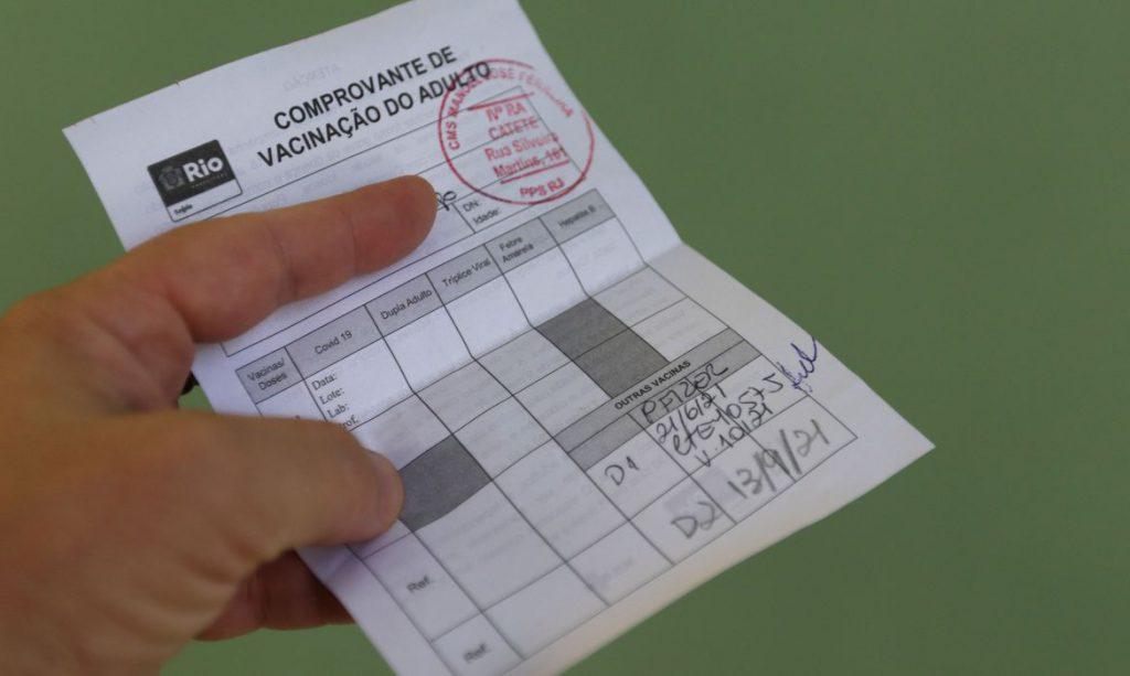 comprovante de vacinacao contra a covid 19 no municipio do rio de janeiro com a vacina da pfizer.050720211237 1024x613 - Rio de Janeiro exigirá 'passaporte de vacinação' a partir de Setembro